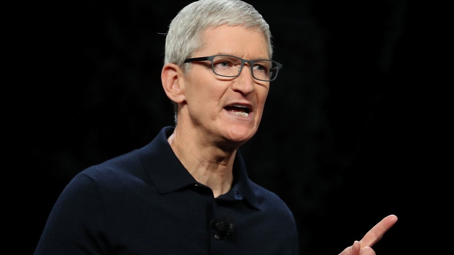 Tim Cook - Apple CEO - (Possibly telling someone not to talk about pay - but probably not...)